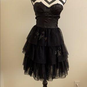 Vintage Betsy Johnson Black Tulle dress